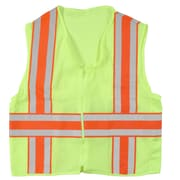 Mutual Industries MiViz Lime ANSI Class 2 Deluxe Dot Mesh Safety Vests With Pockets