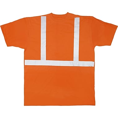 Mutual Industries ANSI Class 2 Tee Shirt, Orange, Medium