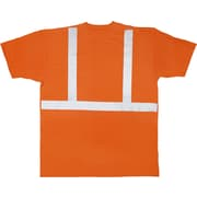 Mutual Industries ANSI Class 2 Tee Shirt, Orange, Large
