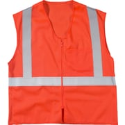 Mutual Industries MiViz ANSI Class 2 High Visibility High Value Mesh Safety Vest, Orange, Large/XL