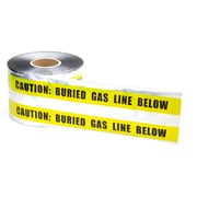 Mutual Industries Gas Line Underground Detectable Tape, 6 x 1000', Yellow
