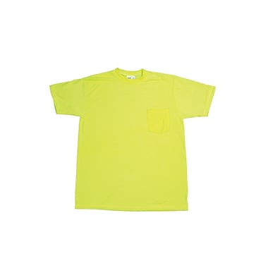 Mutual Industries Gann Durable Flame Retardant Plain Tee Shirt, Lime, 2XL