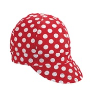 Mutual Industries Kromer A32 Dot Style Hard Bill Cap, Red/White, One Size