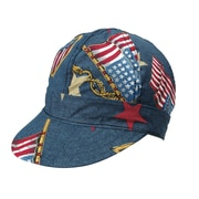 Mutual Industries Kromer C349 Denim Flag Style Hard Bill Cap, One Size