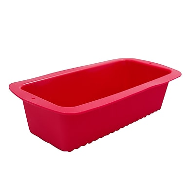 Marathon Management Silicone Loaf Pan, Red