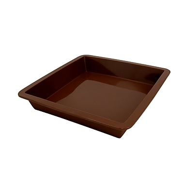 Marathon Management Silicone Square Cake Pan, Brown