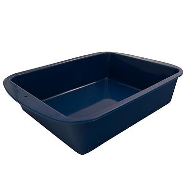 Marathon Management Silicone Deep Dish Casserole, Blue