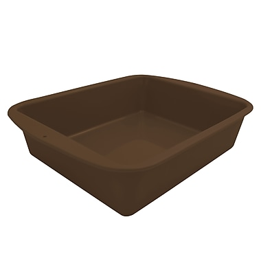 Marathon Management Silicone Deep Dish Casserole, Brown