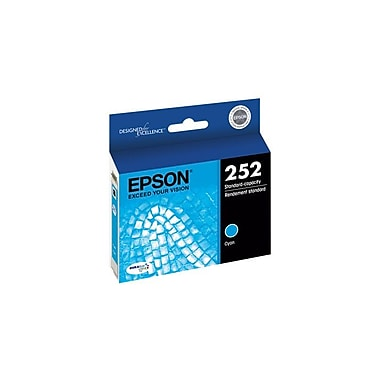 Epson 252 Cyan Ink Cartridge, Standard Capacity (T252220)