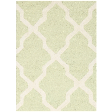 Safavieh Zoey Cambridge Light Green/Ivory Wool Pile Area Rugs