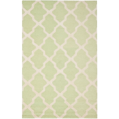Safavieh Zoey Cambridge Wool Pile Area Rug, Light Green/Ivory, 9' x 12'