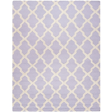 Safavieh Zoey Cambridge Wool Pile Area Rug, Lavender/Ivory, 8' x 10'