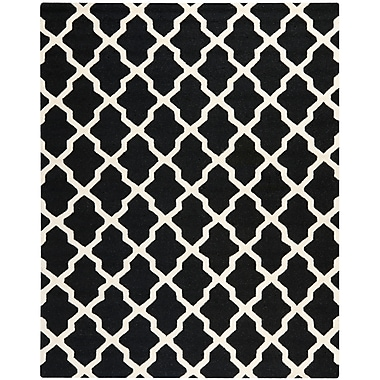 Safavieh Zoey Cambridge Wool Pile Area Rug, Black/Ivory, 9' x 12'
