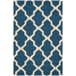 Safavieh Zoey Cambridge Wool Pile Area Rug, Navy Blue/Ivory, 3' x 5'