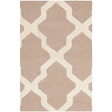 Safavieh Zoey Cambridge Wool Pile Area Rug, Beige/Ivory, 2' x 3'