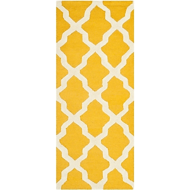 Safavieh Zoey Cambridge Gold/Ivory Wool Pile Area Rugs