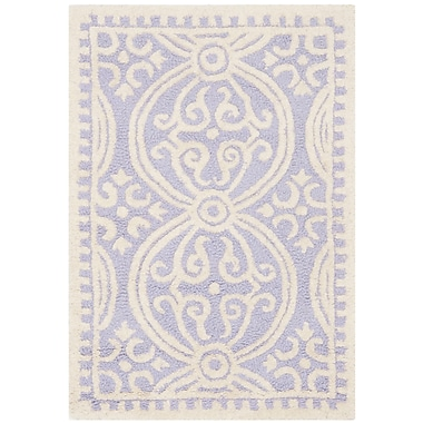 Safavieh Wyatt Cambridge Wool Pile Area Rug, Lavender/Ivory, 2' x 3'