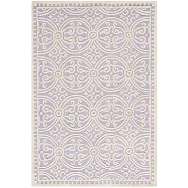 Safavieh Wyatt Cambridge Wool Pile Area Rug, Lavender/Ivory, 3' x 5'