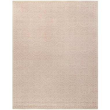 Safavieh Wyatt Cambridge Wool Pile Area Rug, Light Pink/Ivory, 9' x 12'