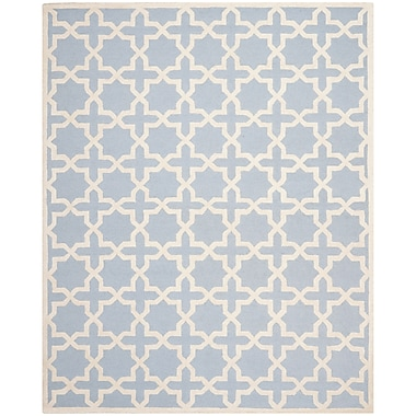 Safavieh Trinity Cambridge Wool Pile Area Rug, Light Blue/Ivory, 8' x 10'