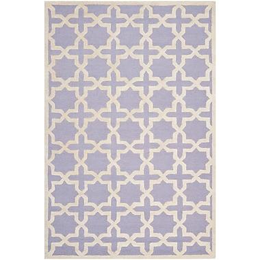 Safavieh Trinity Cambridge Wool Pile Area Rug, Lavender/Ivory, 6' x 9'