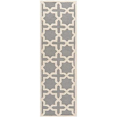 Safavieh Trinity Cambridge Wool Pile Area Rug, Silver/Ivory, 2' 6
