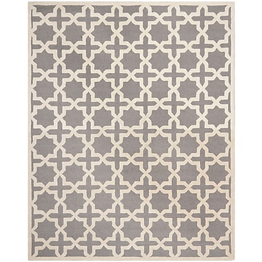 Safavieh Trinity Cambridge Wool Pile Area Rug, Silver/Ivory, 8' x 10'