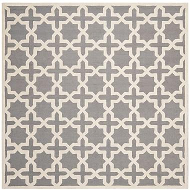 Safavieh Trinity Cambridge Wool Pile Area Rug, Silver/Ivory, 8' x 8'