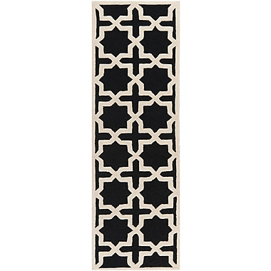 Safavieh Trinity Cambridge Wool Pile Area Rug, Black/Ivory, 2' 6