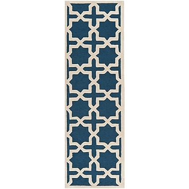 Safavieh Trinity Cambridge Wool Pile Area Rug, Navy Blue/Ivory, 2' 6