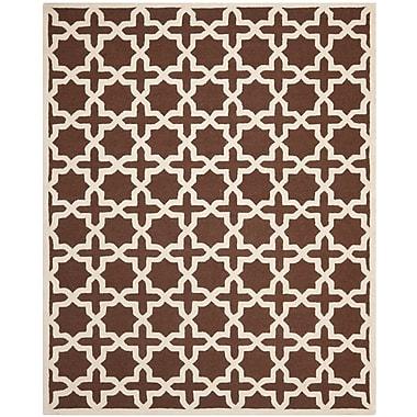Safavieh Trinity Cambridge Wool Pile Area Rug, Dark Brown/Ivory, 8' x 10'