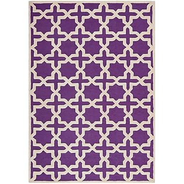 Safavieh Trinity Cambridge Wool Pile Area Rug, Purple/Ivory, 6' x 9'