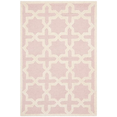 Safavieh Trinity Cambridge Wool Pile Area Rug, Light Pink/Ivory, 3' x 5'