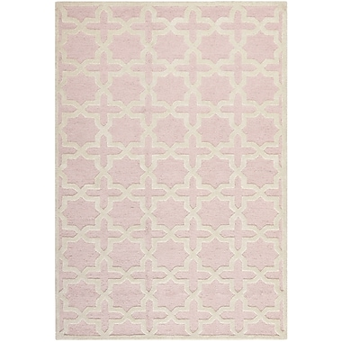 Safavieh Trinity Cambridge Wool Pile Area Rug, Light Pink/Ivory, 6' x 9'