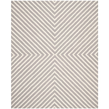 Safavieh Tabith Cambridge Wool Pile Area Rug, Silver/Ivory, 8' x 10'