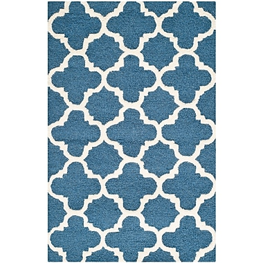 Safavieh Sharon Cambridge Navy/Ivory Wool Pile Area Rugs