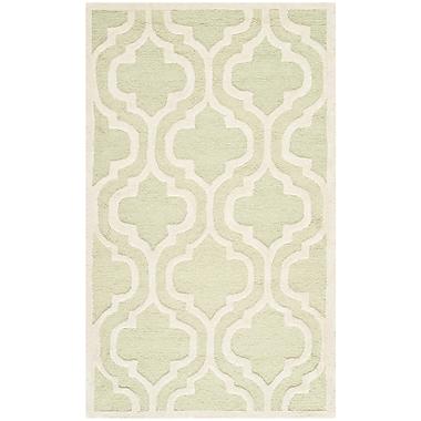 Safavieh Rachel Cambridge Wool Pile Area Rug, Light Green/Ivory, 2' 6