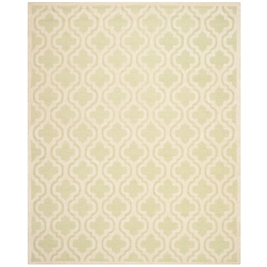 Safavieh Rachel Cambridge Wool Pile Area Rug, Light Green/Ivory, 8' x 10'