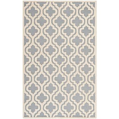 Safavieh Rachel Cambridge Wool Pile Area Rug, Silver/Ivory, 5' x 8'