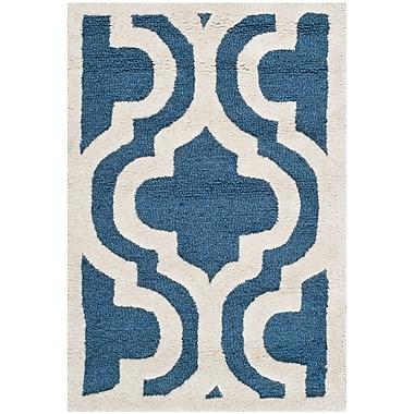 Safavieh Rachel Cambridge Wool Pile Area Rug, Navy/Ivory, 2' x 3'