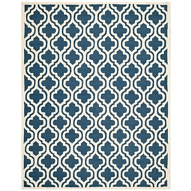 Safavieh Rachel Cambridge Wool Pile Area Rug, Navy/Ivory, 6' x 9'