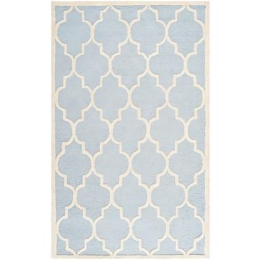 Safavieh Penelope Cambridge Light Blue/Ivory Wool Pile Area Rugs