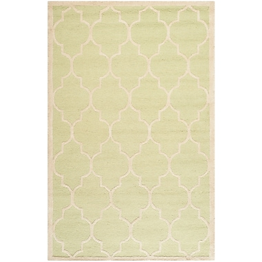 Safavieh Penelope Cambridge Wool Pile Area Rug, Light Green/Ivory, 5' x 8'
