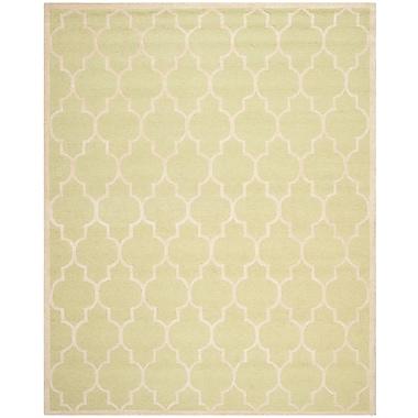 Safavieh Penelope Cambridge Wool Pile Area Rug, Light Green/Ivory, 8' x 10'