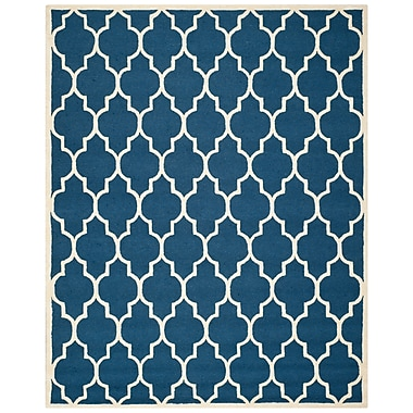 Safavieh Penelope Cambridge Wool Pile Area Rug, Navy/Ivory, 7' 6