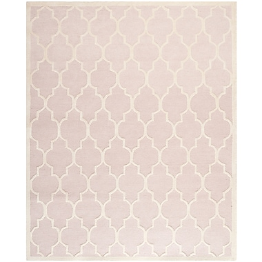 Safavieh Penelope Cambridge Wool Pile Area Rug, Light Pink/Ivory, 8' x 10'
