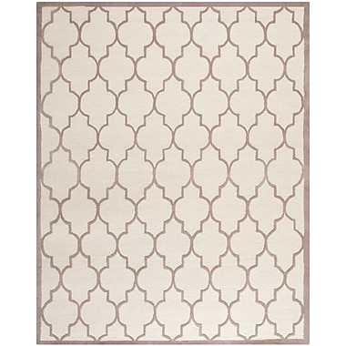 Safavieh Penelope Cambridge Wool Pile Area Rug, Ivory/Beige, 8' x 10'