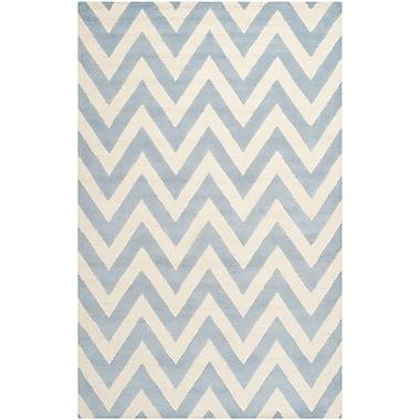 Safavieh Kimberly Cambridge Light Blue/Ivory Wool Pile Area Rugs