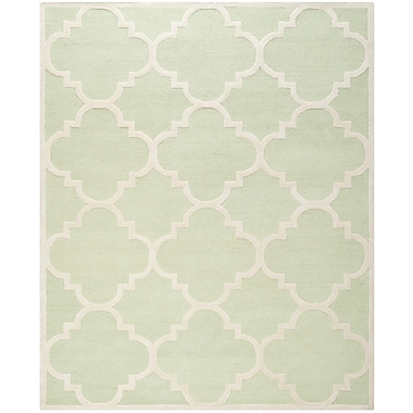 Safavieh Jasmine Cambridge Wool Pile Area Rug, Light Green/Ivory, 8' x 10'