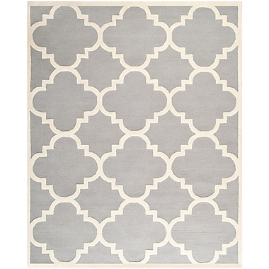 Safavieh Jasmine Cambridge Wool Pile Area Rug, Silver/Ivory, 8' x 10'